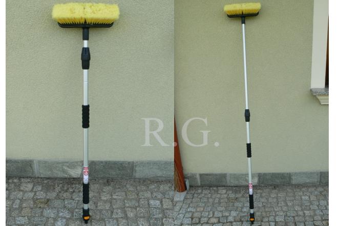 170 cm waschb rste autowaschb rste mit wasserdurchlauf teleskopstiel ebay. Black Bedroom Furniture Sets. Home Design Ideas