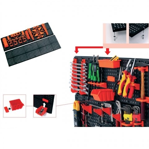 2 x werkzeugwand halterung werkzeughalter werkzeugtafel lochwand ebay. Black Bedroom Furniture Sets. Home Design Ideas