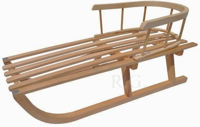 holzschlitten schlitten holzrodel mit r ckenlehne aus holz b ware. Black Bedroom Furniture Sets. Home Design Ideas